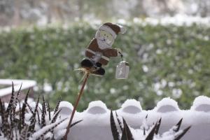 Bloccata in casa dalla neve