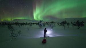 Aurora Boreale a Muonio in Finlandia