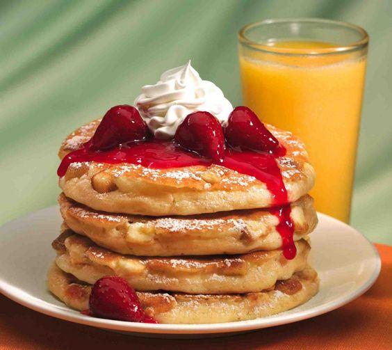 Pancake con succo d'acero